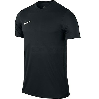 Nike Mens Black T Shirt Football Training Top Gym Sport Dri Fit Size S M L XL