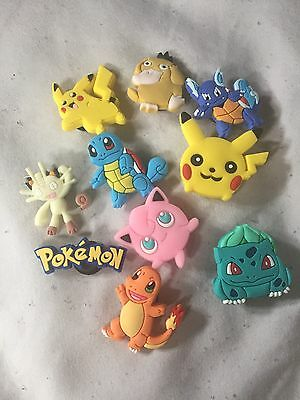 10 Pokemon Go Croc Shoe Charms Crocs Jibbitz Wristbands Shoes Pikachu Poke Ball