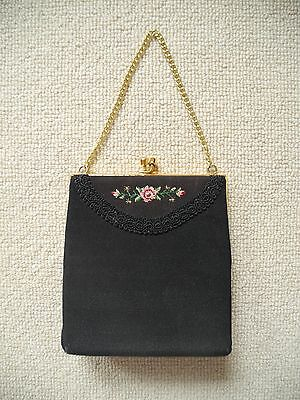 Vintage Black Evening Bag