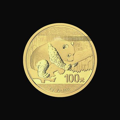 8 g 2016 Chinese Panda Gold Coin