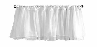 Tadpoles Layered Tulle Window Valance in White