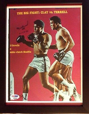 Sale! Vintage Si Cover  Autographed By Muhammad Ali - Psa/loa
