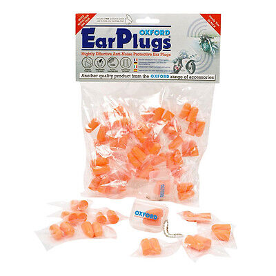 Oxford Motorcycle Wind Noise Reduction Ear Plugs 30 Pairs With Case OF95