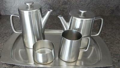 Old Hall AVON 5 piece Stainless Steel Tea set  Designed by ROBERT WELCH