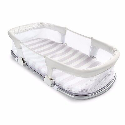Portable Baby Bassinet On Bed Side Sleeper For Cosleeping Swaddle Style Infant