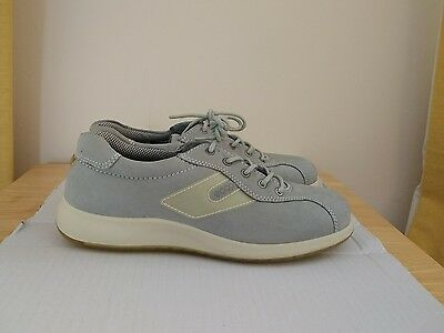 ECCO light grey nubuck casual comfort shoes size 6 BNWOT