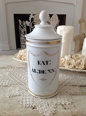 Large Antique French Porcelain Apothecary Jar