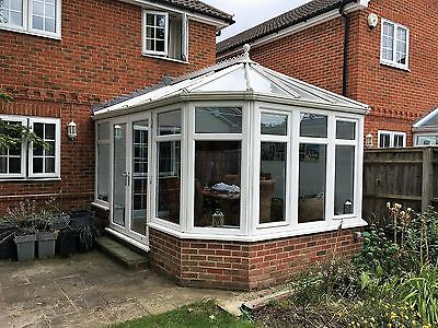 Anglian Conservatory - 3 Facet Modified Victorian with Glass Roof