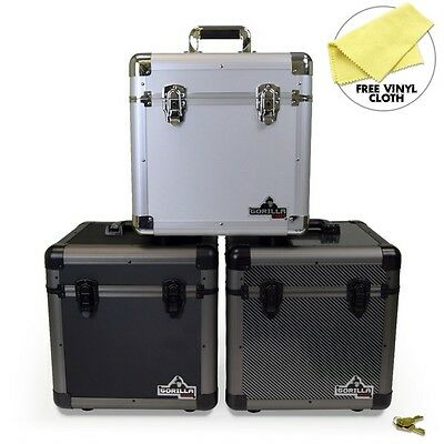 "Gorilla LP80 12"" LP Vinyl Record Storage Case - Holds 80 - 3 Colours Available"