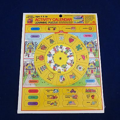 Activity Calendar Learning Puzzle 1987 Golden Days of the Week, Months, Seasons