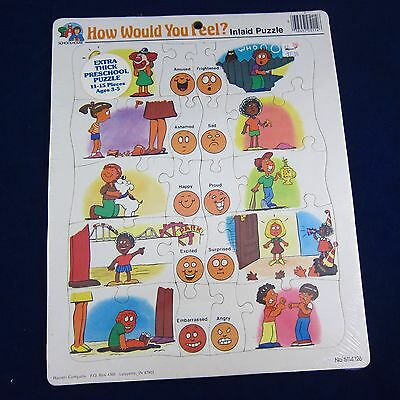 How Would You Feel? Preschool Cardboard Frame Tray Puzzle w/ 20 Pieces
