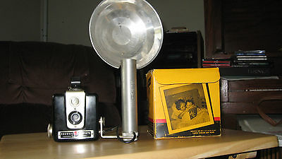 Vintage Brownie Hawkeye (Kodak) Camera, Flash Model (flash holder included)