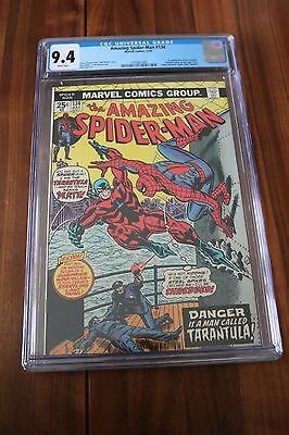 Amazing Spider-Man # 134 - CGC 9.4 NM White Pgs - 1974 1st Appearance Tarantula