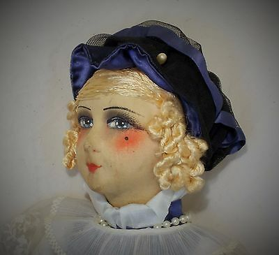 RARE FRENCH 1920s PARIS BOUDOIR DOLL / FASHION DOLL GREAT VINTAGE CONDITION