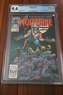 Wolverine # 1 - CGC 9.4 NM White Pgs - 1988 1st App of Wolverine as Patch