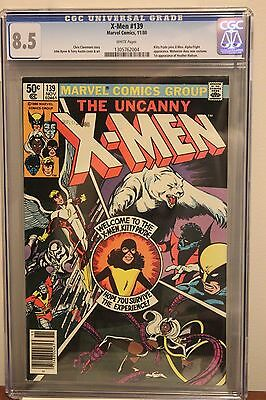 The X-Men #139 CGC 8.5 VF+ White Pgs - 1980 Kitty Pryde joins X-Men