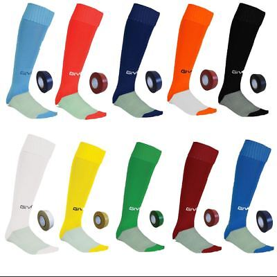 Givova Football socks + FREE MATCHING SOCK TAPE - Boys mens hockey rugby PE