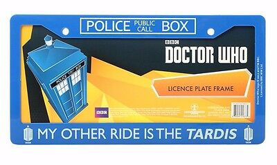 "Doctor Who ""My Other Ride Is The Tardis"" Car License Plate Frame (New)"