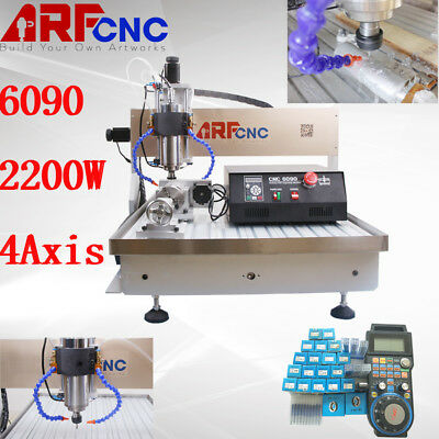 USB 2.2KW four axis CNC Router 6090 engraver milling engraving machine only 220V