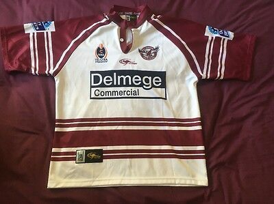 2004 Manly Warringah Sea Eagles Rugby League Shirt NRL Jersey Size XL Classic
