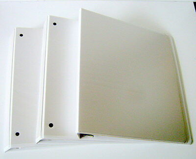Lot of 3 White One Inch Three Ring Binders, Office Supplies, School Supplies