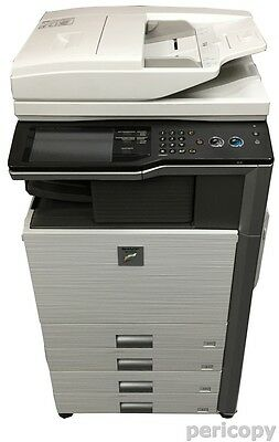 Sharp MX-4101N Farbkopierer Dual-Scanner Drucker mit interner Finisher Top