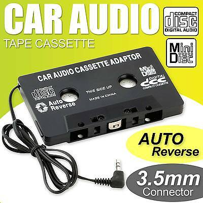 AUTO AUDIO NASTRO CASSETTA JACK AUX PER IPOD MP3 IPHONE convertitore adattatore