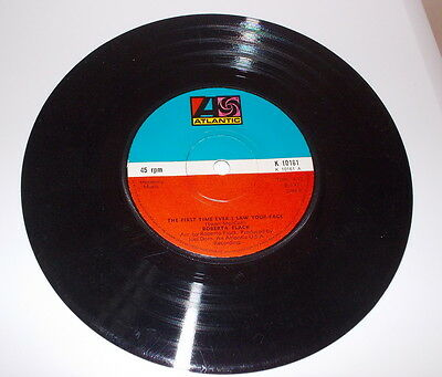 """Roberta Flack """"the First Time Ever I Saw Your Face""""  45 Rpm. 7"""" Single Atlantic"""