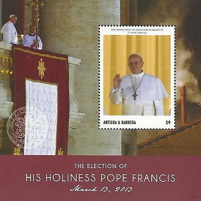 ANTIGUA & BARBUDA THE ELECTION of HIS HOLINESS POPE FRANCIS MNH 2013