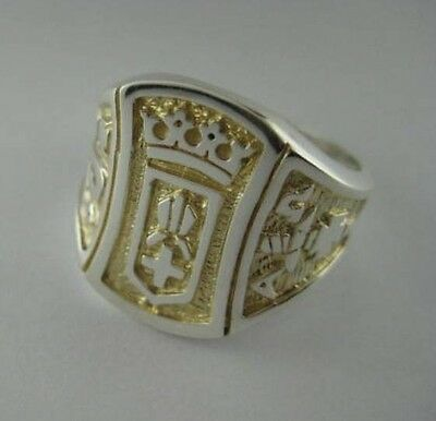 Solid silver Bishop and Priest ring - 23972