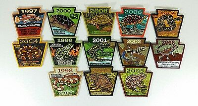 (13) Pennsylvania Fish and Boat Commission Patches Fish Frogs Snakes