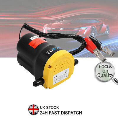 12V Electric Diesel Oil Fluid Transfer Extractor Pump Suction For Car Truck Boat
