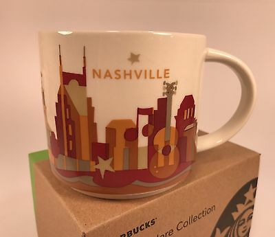 New Starbucks You Are Here Series Nashville 14oz Mug in Original Box with Sku