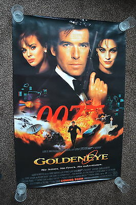 GOLDENEYE 1995 original US one sheet cinema Poster Pierce Brosnan James Bond 007