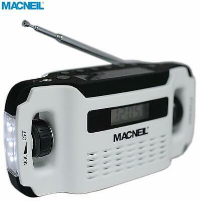 Macneil Wind-Up Solar Portable Radio with built-in LED Torch - NEW