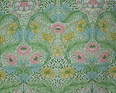 vintage Sanderson Myrtle William Morris floral print cotton fabric length