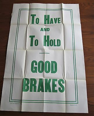 Rare 1930 Massive Maryland Casualty Insurance Auto Car Safety Poster Baltimore