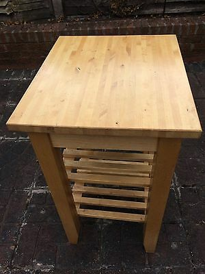 Solid Pine Kitchen Butcher Block Trolley