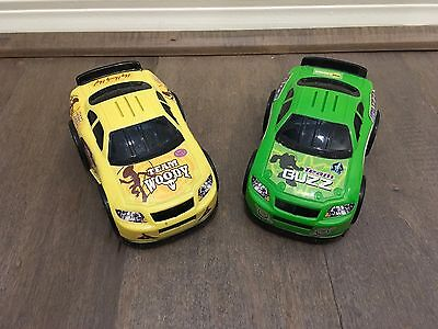 2 Cars Fisher Price Toy Story Shake 'n Go Speedway Shake Em Cars Only