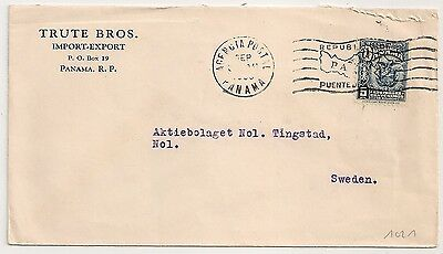 Cover Panama To Sweden. L1021