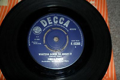 "SMALL FACES Whatcha Gonna Do About It  7"" vinyl single Decca original"