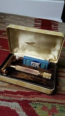 Gillette Razor 1940 Milord Tech No Notch No Endcaps With Correct Box