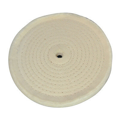 Polishing Spiral Stitched Cotton Buffing Wheel Use With Bench Grinders