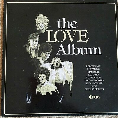 "12"" Vinyl LP - The Love Album - Various Artists - K-Tel NE 1092 Free Postage"