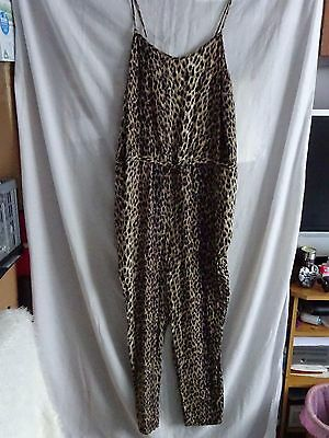 Ladies Jumpsuit Papaya Holiday Size 18 Animal Print Excellent Condition