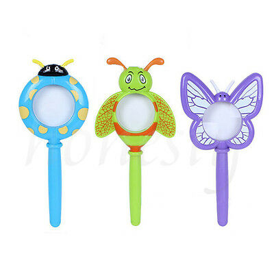 Plastic Cartoon Insects Magnifier Magnifying Glass Kids Educational Toy Gift