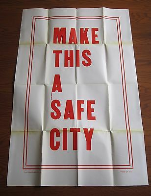 Rare 1929 Massive Maryland Casualty Insurance  Car Safety Poster Make Safe City