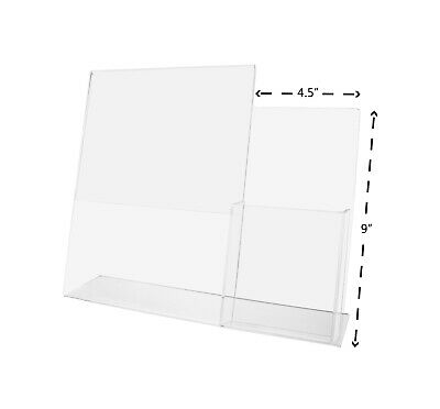 "(Lot of 4) 8.5""W x 11""H Acrylic Sign/ Brochure Holder with Tri-Fold Display"