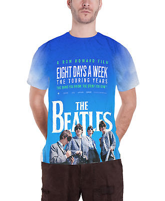 The Beatles  T Shirt 8 Days A Week Movie Poster Official Mens slim fit sub dye