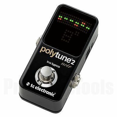 TC Electronic PolyTune 2 mini Noir * NEW * tuner poly tune t.c. electronics